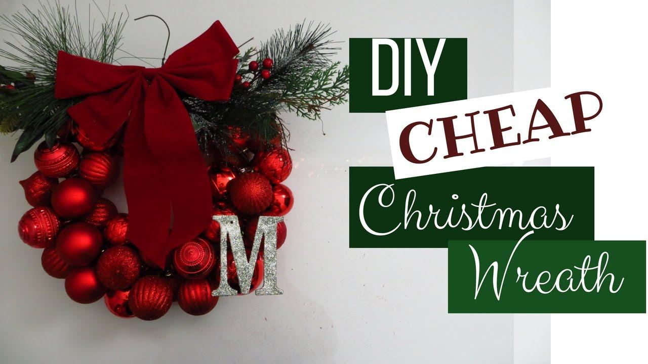 diy cheap christmas wreath - Cheap Christmas