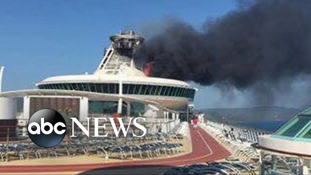 Burning Cruise Ship Arrives Into Jamaican Port Doovi