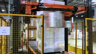 High speed empty bottle wrapping using rotary ring technology