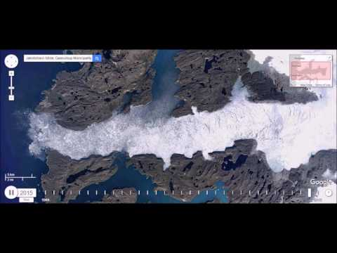 Time Lapse of Melting Jakobshavn Isbrae Glacier, Greenland - Climate Change