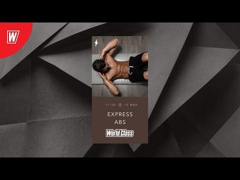 EXPRESS ABS с Андреем Андреевым | 3 мая 2020 | Онлайн-тренировки World Class