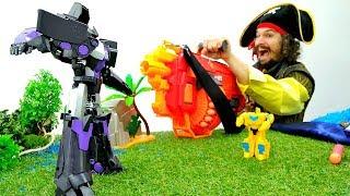 Видео о Трансформерах и Пиратах.  Игры для детей