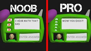 PRO VS NOOB IN Baldi's Basics in Education and Learning