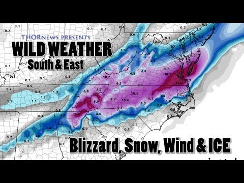 Crazy storms, Blizzard, Snow & Ice to Hit the East Coast USA