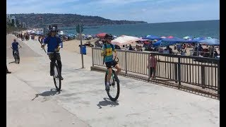 Video 11 year old unicyclist sets distance record! download MP3, 3GP, MP4, WEBM, AVI, FLV September 2018