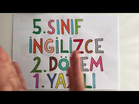 5. Sınıf İngilizce