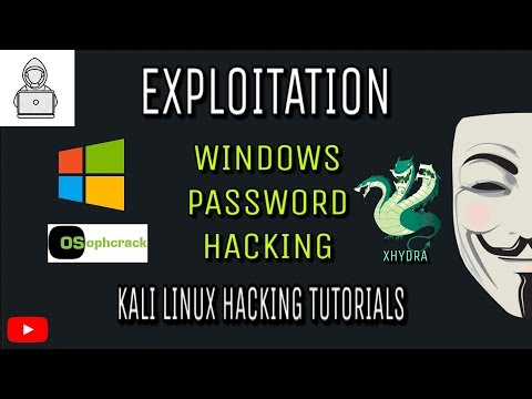 Windows Password Hack  ( Usinng Hash ophcrack & xHydra) in Kali Linux
