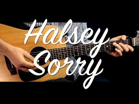 Halsey - Sorry Guitar Tutorial Lesson w Chords / Guitar Cover How To ...