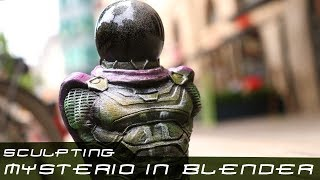 Let´s create Mysterio from the Spiderman Comics   3D printing toys and figures with Rober Rollin