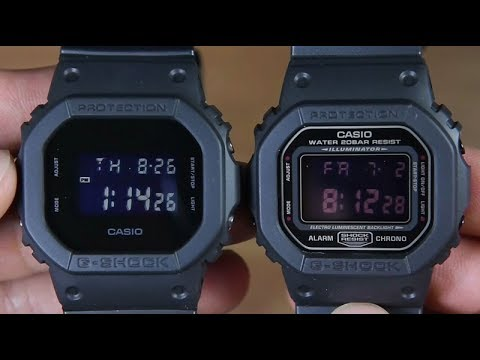 c97127c2c CASIO G-SHOCK DW-5600BB-1 VS G-SHOCK DW-5600MS-1 - YouTube