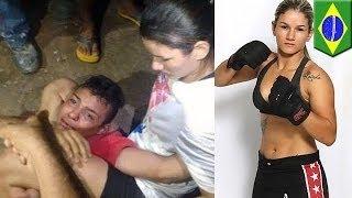 Провальный грабёж: потенциальная жертва оказалась борцом смешанных единоборств(18-летний Уэсли Соуса де Арайхо был немало удивлён, когда девушка, которую он решил ограбить со своего мотоци..., 2015-09-05T09:12:44.000Z)