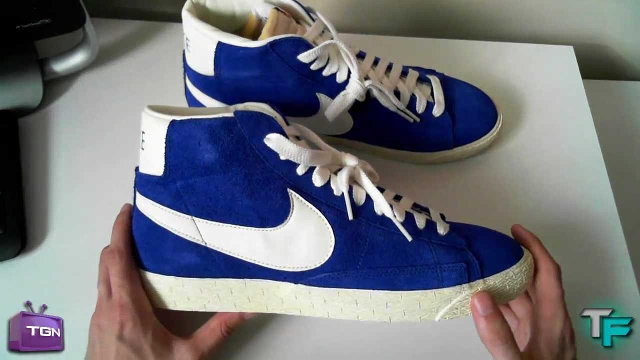 Nike Blazer Bleu Vintage Haute Suède d'origine à vendre bonne prise vente sortie neUaxuo