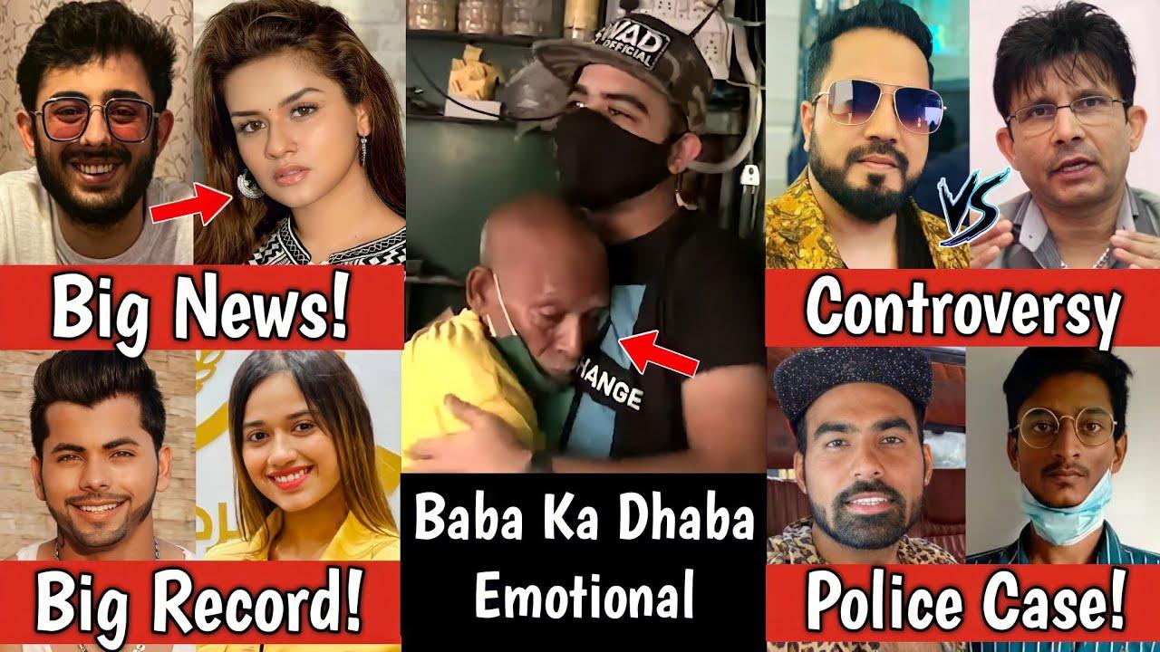 Baba Ka Dhaba Crying Video, Carryminati & Avneet Kaur! Jannat Zubair, KRK Vs Mika Singh, Gauravzone