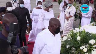 Akufo-Addo pays last respect to JJ Rawlings' mother - YouTube