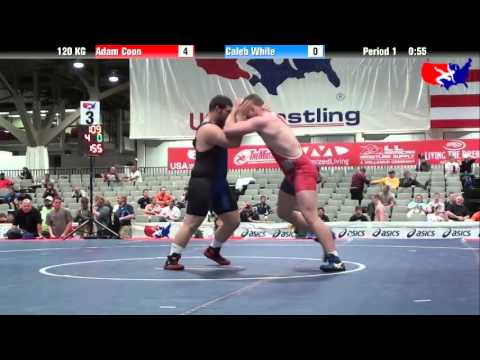 Adam Coon vs. Caleb White at 2013 Junior Nationals - FILA - GR