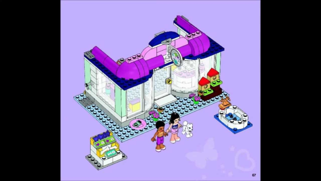 Lego Friends 41007 Heartlake Pet Salon Building Instructions