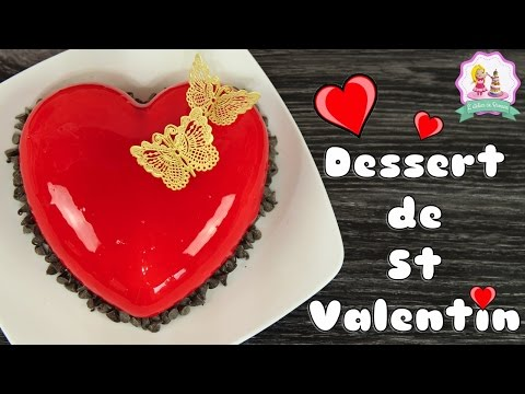♡•-recette-saint-valentin-entremet-coeur-|-glacage-miroir-rouge-•♡