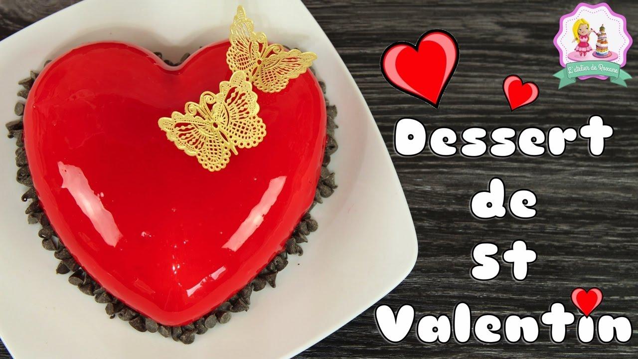 Recette saint valentin entremet coeur glacage miroir - Coeur st valentin ...