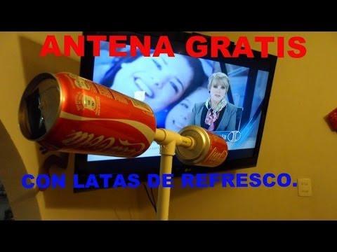 Prueba de antena hecha con latas hdtv hd ttd youtube - Antenas de television ...