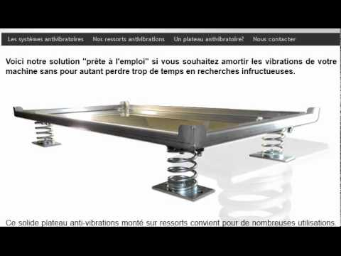 plateau antivibratoire plaque anti vibrations youtube. Black Bedroom Furniture Sets. Home Design Ideas