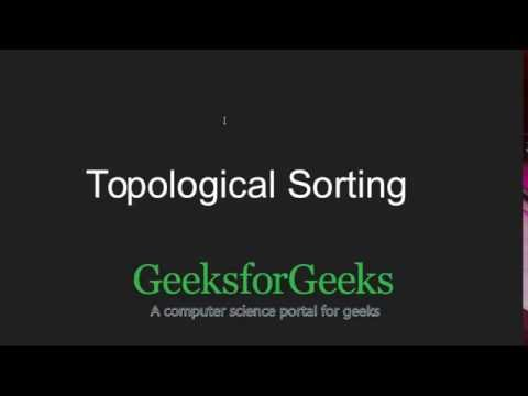 Topological Sorting | GeeksforGeeks