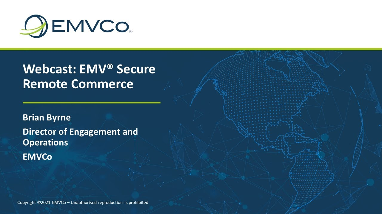 EMV® Secure Remote Commerce Presentation with Audio