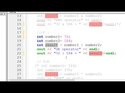 Bitwise Operator in C++ with example || Operators in C++ || Comma Operator in C++ || Lecture 08 from YouTube · Duration:  18 minutes