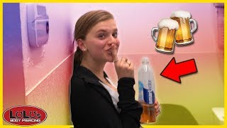 She Started Drinking Beer After Her Piercing??