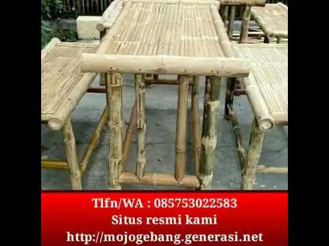 Model Kursi Buat Warung Cafe Dari Bambu Youtube
