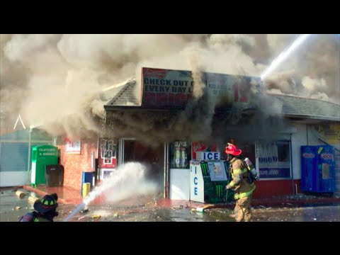 Huge Fire Destroys 2 Buildings & Damages A Church In Riverbank, California (Fire News Story)