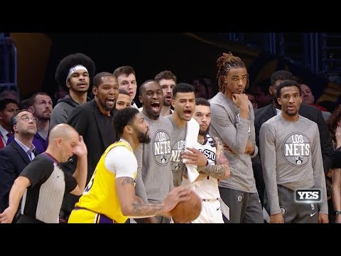 Lakers-Nets Wild Ending | Highlights