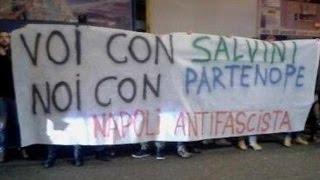 Napoli - Protesta contro Salvini e la Lega Nord -live- (19.01.15)