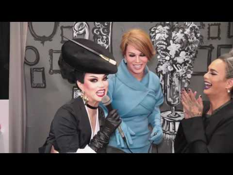 Manila Luzon and Raja Gemini interviewed by Melania Trump at DragCon
