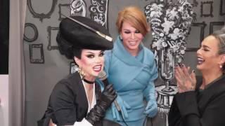 Manila Luzon and Raja Gemini interviewed by Melania Trump at DragCon