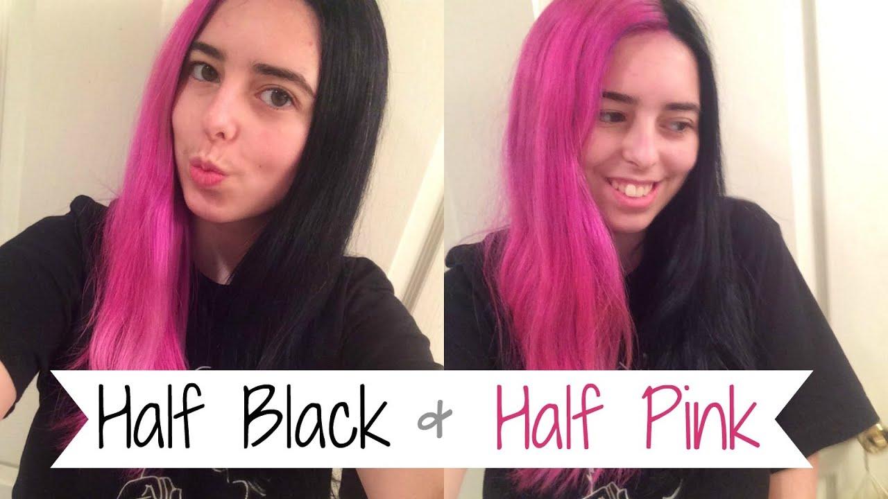 dyeing hair black