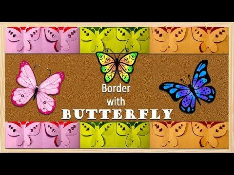 NEW BUTTERFLY DESIGN: Simple Steps For Bulletin Board Border Design
