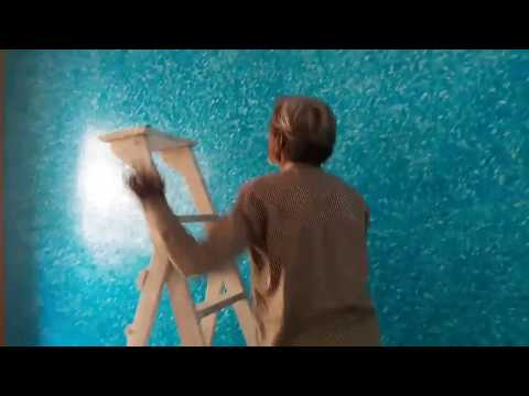 Asian Paint Royale Play Non Metallic Green Ragging Wall Design video 1