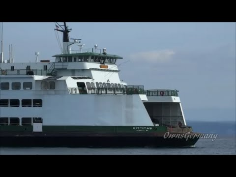 Trip Aboard Washington State Ferry Kittitas - Mukilteo to Clinton Cruise