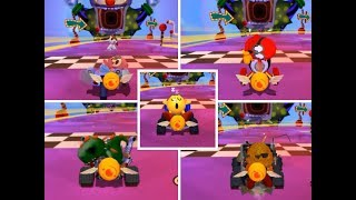 Pac Man World Rallay ALL Characters Sleeping in Racing Track Extra Characters from PSP