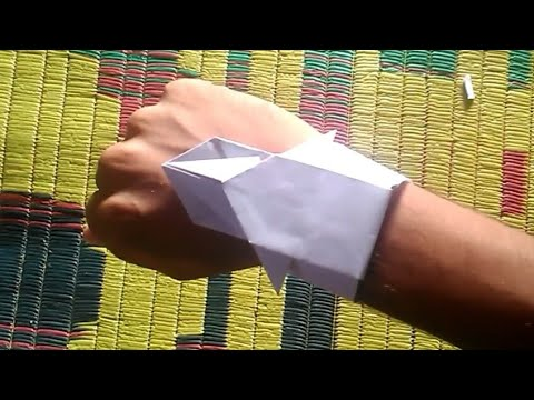 How to make stylish Origami Paper watch by Sai Prasad