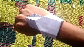 How to make stylish Origami Paper watch by Sai Prasad