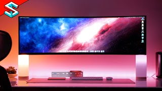 "Samsung 5k 49"" Samsung CRG9 Superultrawide 120 Hz Gaming Monitor UNBOXING - It's HUGE!"