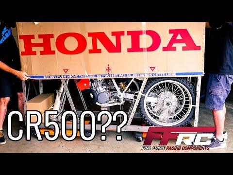 Unboxing a brand new 2001 Honda CR500. It is still in its crate after 15 years.