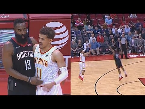 Trae Young Goes CRAZY vs James Harden With Using Stephen Curry Range! Rockets vs Hawks