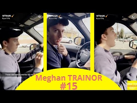Meghan Trainor's boyfriend Daryl Sabara singing in a car