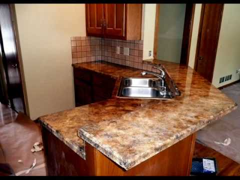 kitchen counter top resurfacing by all american decorative concrete youtube. Black Bedroom Furniture Sets. Home Design Ideas