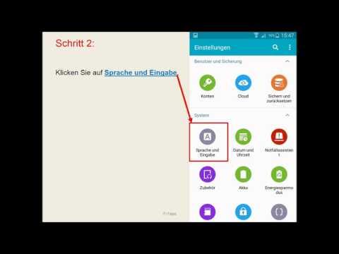 Anleitung: Samsung Sprache ändern ( Android )