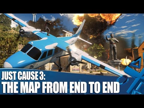 See How Big Just Cause 3's Map Is in This New Gameplay Video