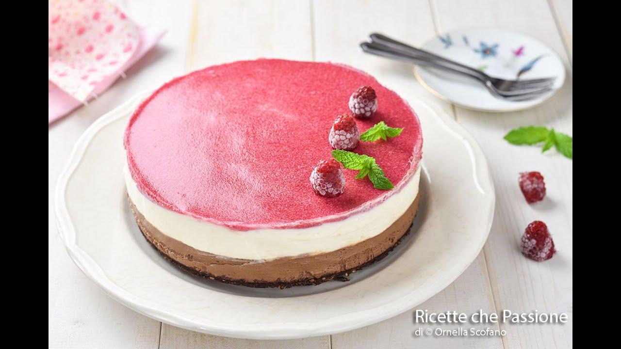 Cheesecake ai lamponi con mascarpone e cioccolato - Dolce freddo senza cottura-Ricette che Passione