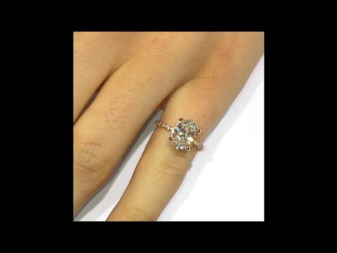 2.00 ct Oval Diamond Engagement Ring In Rose Gold